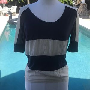 Lucca Couture cream and navy Top